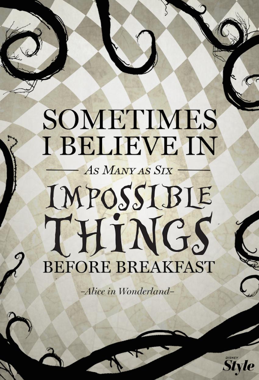 Credits: Alice in Wonderland - Lewis Carroll