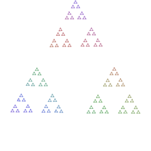 Sierpinski Triangle - Diagram of a high power of 3